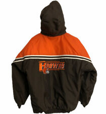 Cleveland Browns Winter Coat Youth Size XL 18 - 20 Brown Pullover Puma NFL Boys