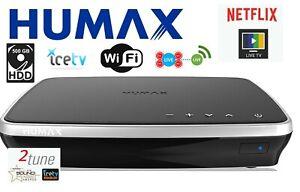HUMAX HDR-3000T Twin HD Tuner Quad PVR Recorder 500GB HDD w/ Netflix ICE TV WiFi
