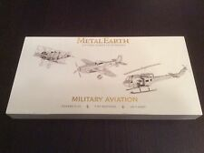 New Metal Earth Military Aviation Steel 3D Models Fokker Mustang Huey Helicopter