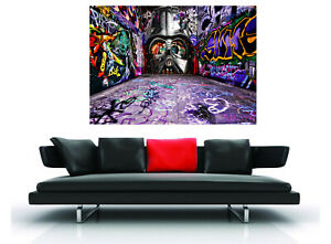 art painting  poster street graffiti  alley wall canvas by Andy Baker