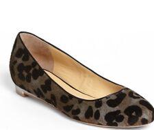 Cole Haan Womens Astoria Ballet Ocelot Calf Hair Flat Shoes Grey 9
