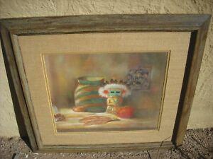 New Mexico painting kachina doll prayer stick pastel southwestern still life