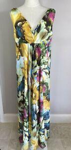 Moss & Spy - Multicoloured Maxi Dress - Size 16 Preowned