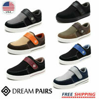 DREAM PAIRS Boys Athletic Ajustable Strap Outdoor Running Loafers Sneakers Shoes