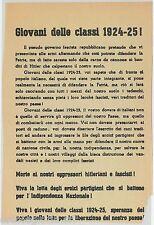 65228 - VOLANTINO POLITICO del CLN  1944 Propaganda - RISTAMPA del 1975