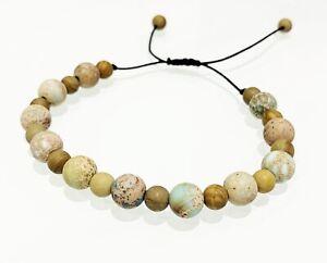 Matte Sea Sediment JASPER Bracelet Healing Gemstone GROUNDING IMMUNITY HEALTH