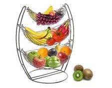 New 3 Tire Fruit Basket Rack Hammock, Stand Display Holder Hanger Storage, Metal