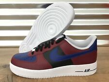Nike NikeiD Air Force 1 AF1 Low Lifestyle Shoes Maroon Red Black SZ 13 (AQ3774)