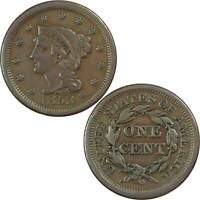 1853 Braided Hair Large Cent VF Very Fine Copper Penny 1c US Type Coin