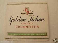LUCIFERS,MATCHBOX LABELS GOLDEN FICTION VIRGINIA CIGARETTES ED. LAURENS CONTINEN