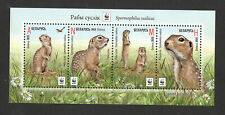 BELARUS-MNH-BLOCK -WWF -FAUNA-BIRDS-Speckled Ground Squirrel-2015.
