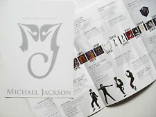 """MICHAEL JACKSON """"HIS MUSIC WILL LAST FOREVER"""" HONG KONG PRIOMO PAMPHLET BOOKLET"""