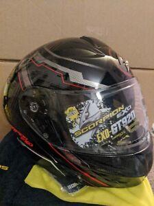 Scorpion EXO-GT920 Satellite Helmet Red Black Size XS