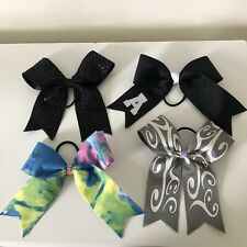 Tie Dye, Black, Gray Assorted Cheer Bows