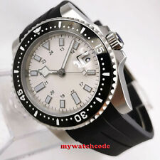 40mm bliger sterile white dial sapphire glass ceramic bezel automatic mens watch