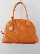 DOONEY BOURKE orange leather doctor bowling satchel bag