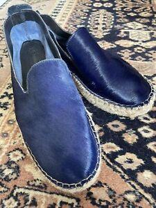 Maya McQueen Blue Suede Espadrilles - Size 40 - Worn Once