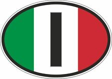 oval sticker flag country bumper decal car I italia italy italian