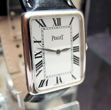 VINTAGE RARE SWISS PIAGET SOLID 18K WHITE GOLD MID SIZE WATCH SERVICED CAL 9P