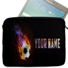 "Personalised Tablet Case FOOTBALL Neoprene Sleeve Cover 7"" 8"" 9"" 10""  ST472"