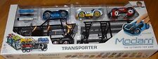 Transporter Modarri Car Carrier with 3 cars Design, Build, Drive Finger Powered