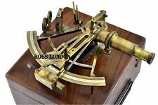Vintage Heavy Sextant 8 Inch Antique Collectible German Working With Wooden Box