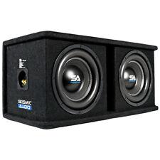 Dual 10 Inch 1600 Watt Car Audio Subwoofer Box Enclosure with Rear Vent