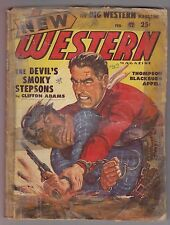 New Western Feb 1949 Pulp Harrison Colt Tom W Blackburn George C Appell G A Lutz