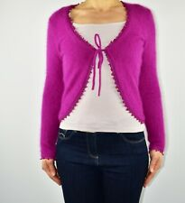Phase Eight Magenta Pink Shrug Cardigan Beaded Angora Autumn Winter Size 8 BD
