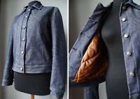 Blazer giacca di jeans IMBOTTITA CALDA giubbotto jacket giacchetta denim 42 44