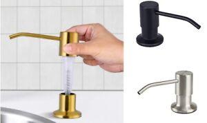 Pump Head Soap Dispenser for Kitchen Sink Stainless Steel Bathroom Hand Home