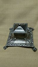 Antique Sterling Silver English Inkwell hallmarked