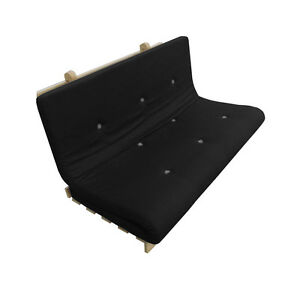 Memory Foam Futon Mattress | Roll Out/Fold Up Guest Bed | Black | 190cm x 125cm
