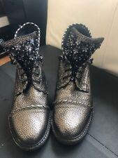 Alma En Pena  Metallic Leather Boots