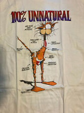 New listing Bloom County Bill the Cat 100% Unnatural Vintage T-Shirt 1988 Xl