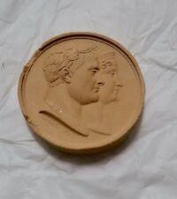 Médaille en plâtre  Napoléon  25 mm.