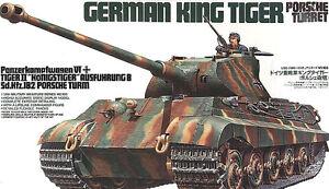 Tamiya 35169 1/35 Model Kit WWII German Heavy Tank King Tiger Porsche Turret