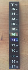 100 X Dual Aquarium Fish Tank Thermometer Temperature Stickers Fahrenheit °F
