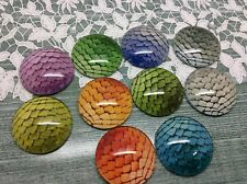 10 x Dragons Egg Mermaid Scales Dome Cabochons 25mm jewellery making scrapbook