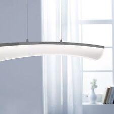 WOFI lámpara colgante LED Comte 1 Luz Níquel Vidrio Acrílico regulable 32 vatios