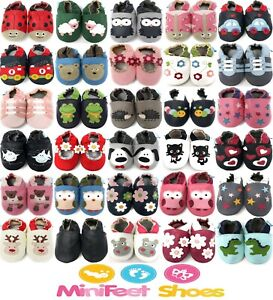 Soft Leather Baby Shoes / Toddler Shoes / Pram Shoes - 0-6 Months to 3-4 Years