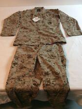 USMC MCCUU Desert Digital MARPAT Combat Blouse & Trouser Pants Set  Medium   NEW