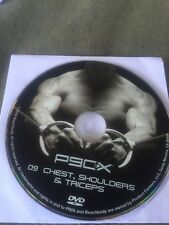 p90x disk 09 Chest, Shoulders and Triceps DVD.  FREE SHIPPING. Used Accept  Cond
