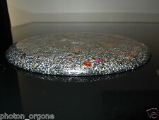 Orgone Ovale nourriture/eau/Cristal De Charge Plaque/Board/Napperon 32x22cm Or 23k