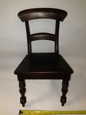 """Handmade solid Mahogany Doll's Chair -17""""x10""""x9"""" Perfect for American Girl Dolls"""