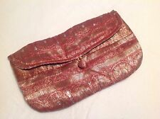 Handmade clutch bag, red and gold sparkles, small, NEW! Bag height 5, length 9