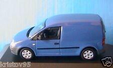 VW VOLKSWAGEN CADDY TOLE 2005 DARK BLUE MINICHAMPS 1/43 BLAU BLEU UTILITAIRE