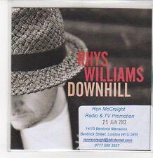 (DQ866) Downhill, Rhys Williams - 2012 DJ CD