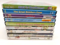 Sesame Street / The Muppets Lot of 10 Kids DVDs - No Duplicates!