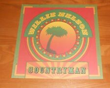 Willie Nelson Countryman 2-Sided Flat Square Poster 12x12 Weed